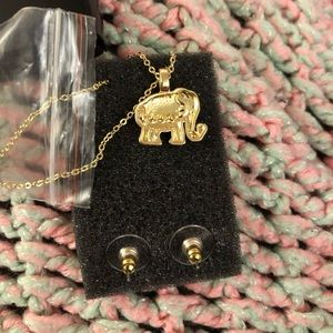 Jewelry - Elephant necklace and earrings